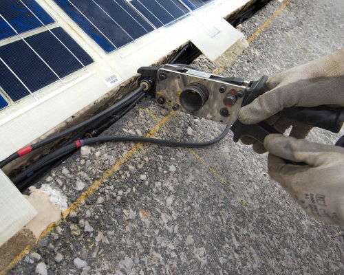 Tinuku.com Coral inaugurated asphalt solar panels Wattway in Normandy, France, as a space-saving power plant
