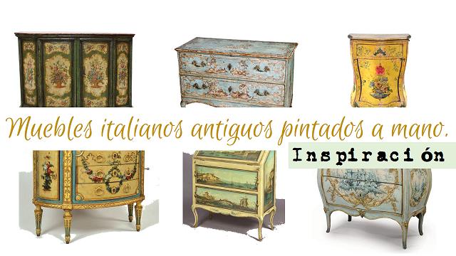 Muebles pintados a mano reciclar y decorar con la t cnica - Muebles decorados a mano ...