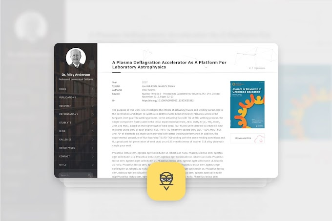 Download Theme Portfolio - Hubble Academic WordPress Theme