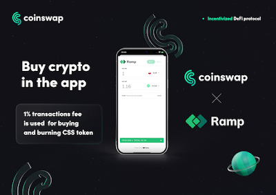 Coinswap partners with Ramp