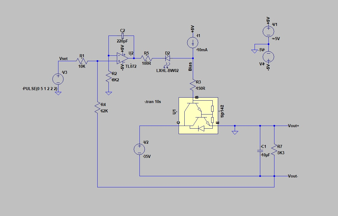 Pauls Diy Electronics Blog My New Power Supply Design Project Part 1 0 30v Circuit Diagram I Have Raised To Raw 35v This Gives The Series Pass Transistor Some Headroom For A Output Itself Is Really