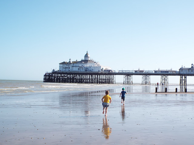 Eastbourne Pier, Beach, Boys on the beach