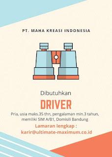Lowongan Kerja PT Maha Kreasi Indonesia