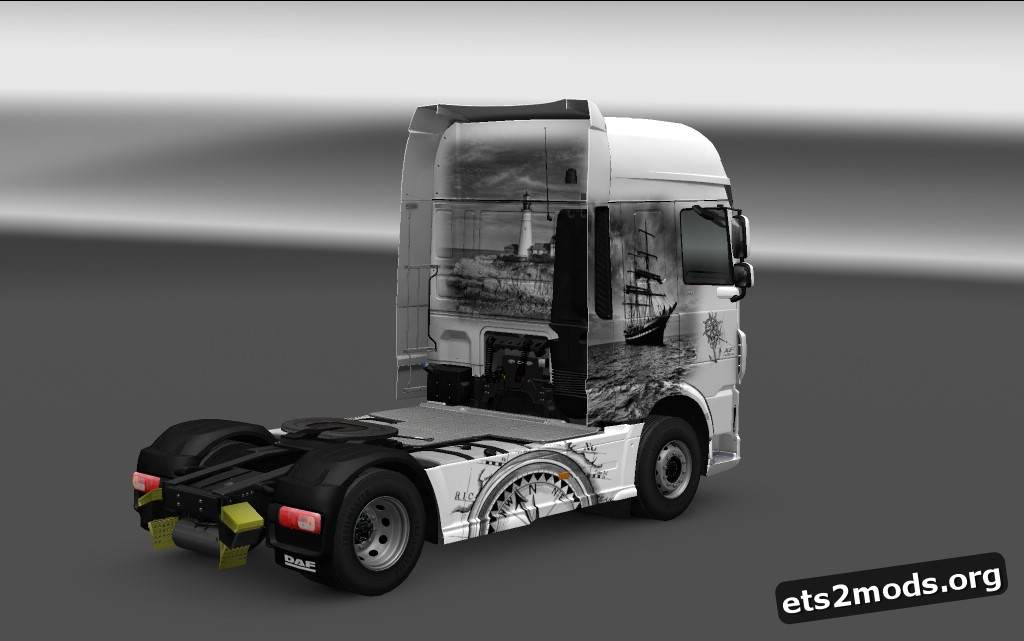 Ancient Ship Theme Paint Skin for DAF Euro 6