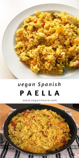 Vegan paella recipe Pinterest