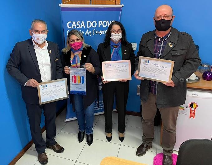 Jussara Caçapava realiza homenagem aos Rotaryanos de Cachoeirinha