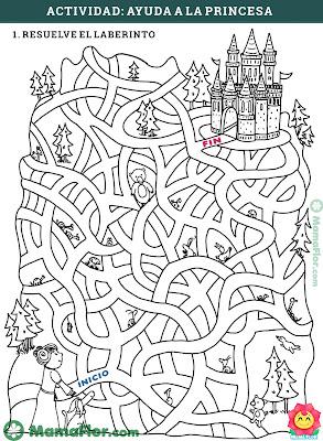Aprender es divertido: Laberinto de la Princesa y el Castillo