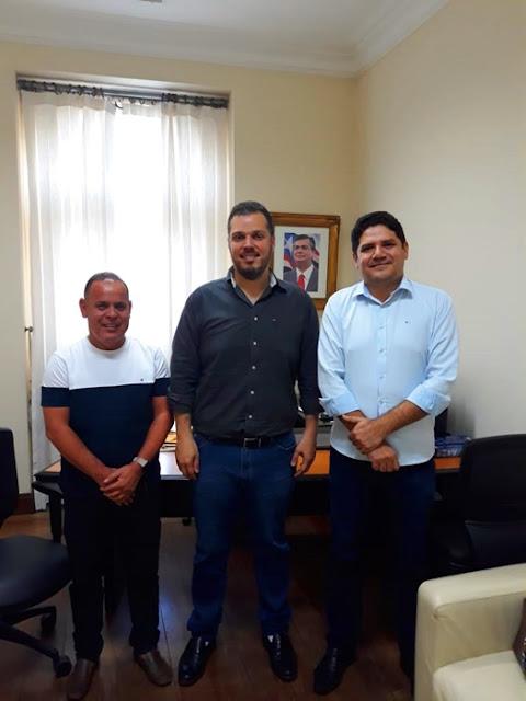 Aldy Júnior é recebido no Palácio dos Leões pelo Secretário de Articulação Política
