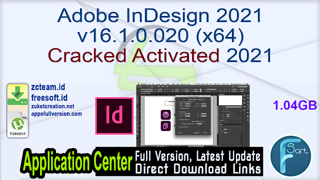 Adobe InDesign 2021 v16.1.0.020 (x64) Cracked Activated 2021