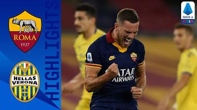 Video AS Roma 2-1 Hellas Verona: Vòng 33, VĐQG Italia
