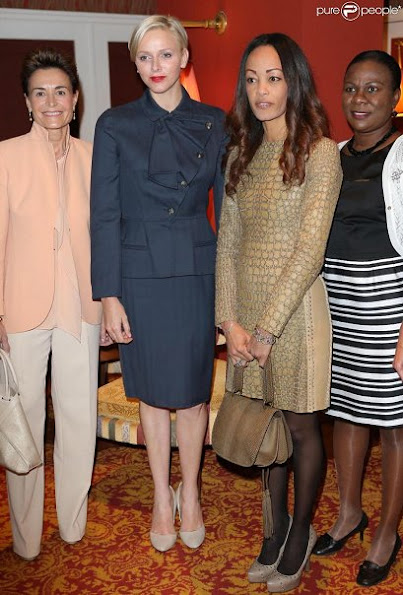 Princess Charlene attended the Ladies Lunch Monte Carlo for Princess Stephanie Youth association
