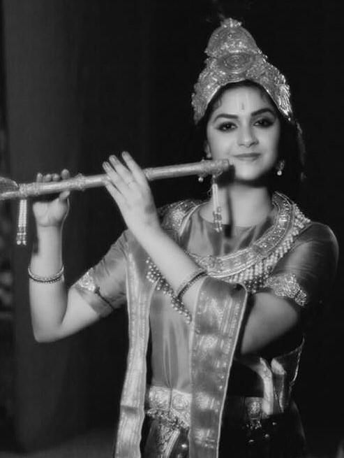 Keerthy Suresh with Cute Smile as Lord Krishna | Mana