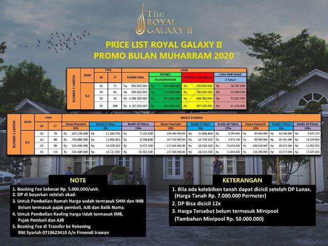 Perumahan Syariah The Royal Galaxy 2 Cikunir Bekasi Selatan