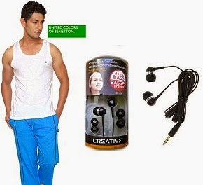 Infibeam Magic Deal: UCB Pack Of 3 Cotton Vests worth Rs.897 for Rs.250 and Creative IN-EAR Earphone EP-630 Black worth Rs.1199 for Rs.649 Only