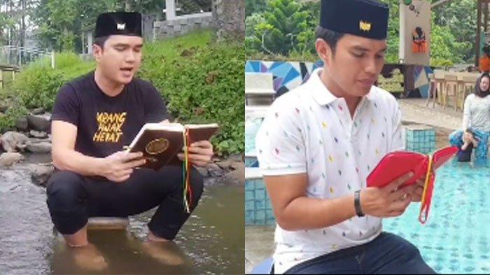 Viral Video Aldi Taher Mengaji di Berbagai Tempat Sungai sampai Kolam Renang, Diunggah Setiap Hari