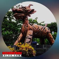 Gambar ilustrasi makhluk mitologi Rawak Ngendog di Semarang, Jawa Tengah.