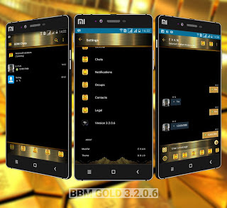 Download BBM MOD Gold Style Theme versi 3.2.0.6 Apk terbaru For Android