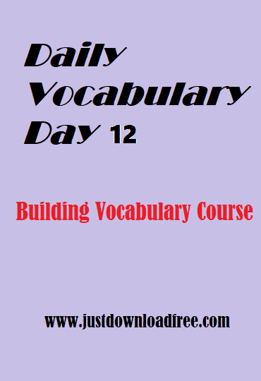 Easy tricks for vocabulary learning with free PDF download (Day 12)