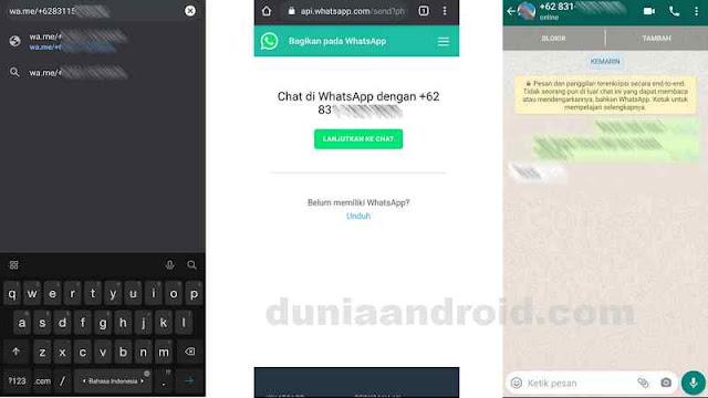 Chat whatsapp tanpa save kontak
