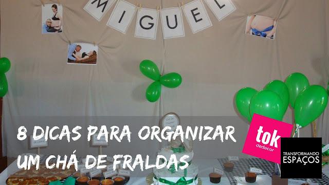 8 dicas para organizar um Chá de Fraldas