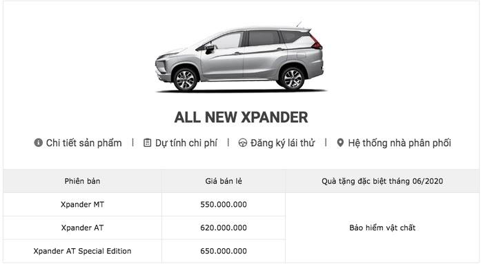 Bảng giá xe Mitsubishi tháng 6/2020: Mitsubishi Pajero Sport giảm gần 100 triệu đồng