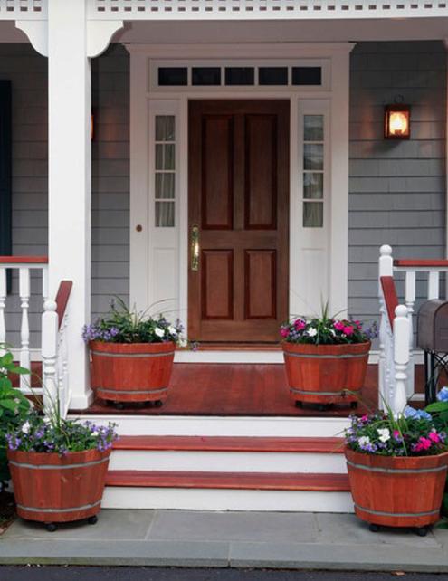 GORGEOUS FRONT DOOR FLOWER DECORATIONS