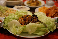 Minced duck in Lettuce at Tin Gow