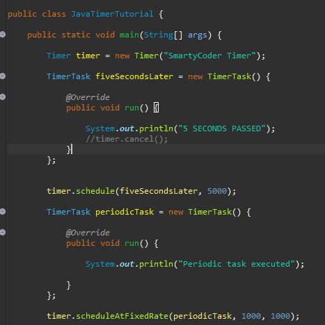 Java'da Timer ve TimerTask kullanımı