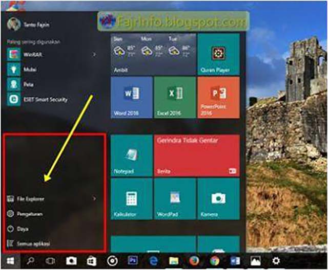 Cara Menambahkan Shortcut Folder Sebelah Kiri Start Menu Windows 10