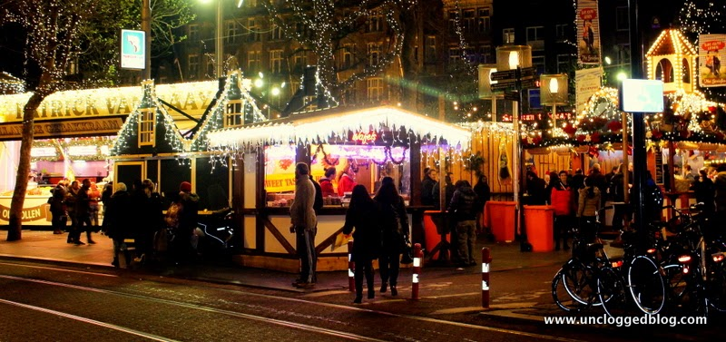 Christmas time in Amsterdam, Netherland