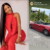 Mercy Eke adds Mercedes Benz Convertible to fleet of exotic cars; [Video]