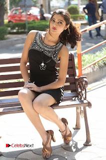 Actress Poojitha Pallavi Naidu Stills in Black Short Dress at Inkenti Nuvve Cheppu Movie Platinum Disc Function  0232.JPG
