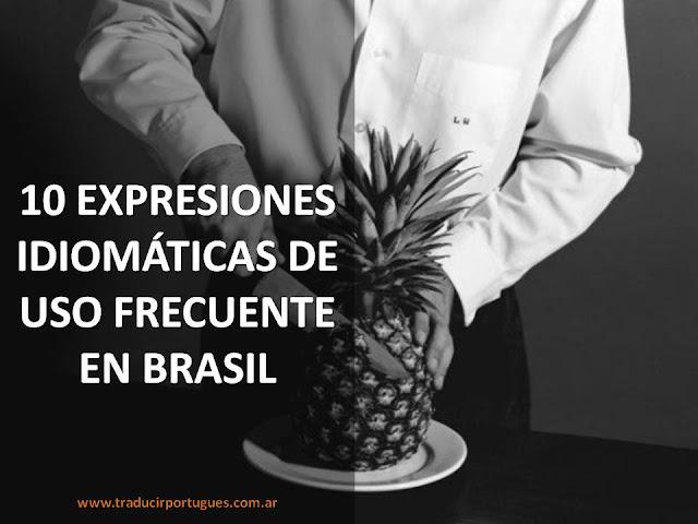 expresiones, idiomáticas, Brasil, portugués, expressões