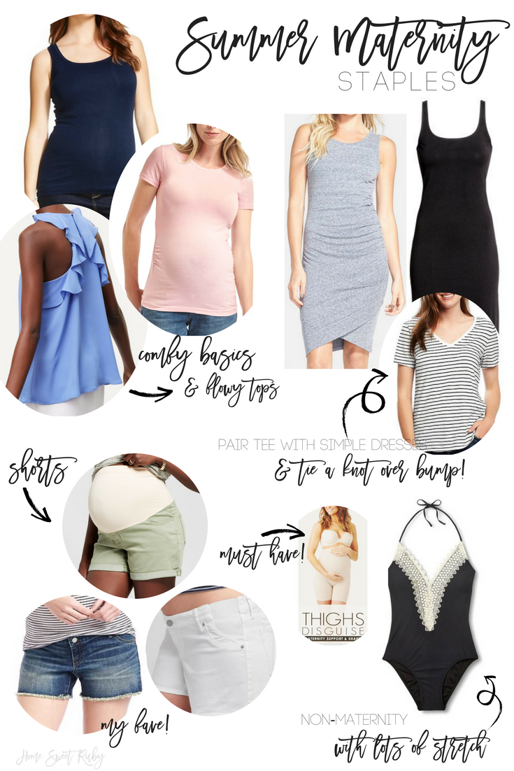 Summer maternity staples home sweet ruby maternity tees my go to is gap for basic maternity tees i say this because i hate when shirts have really obvious rouching and gaps dont so they fit the ombrellifo Images