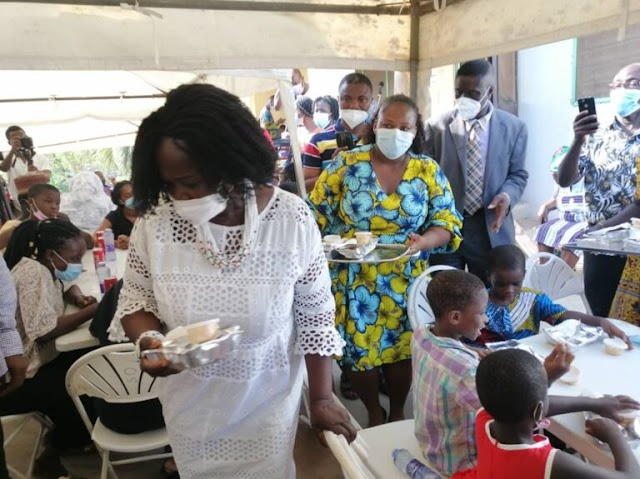Prof. Naana Jane celebrates Mother's Day with orphans in Takoradi