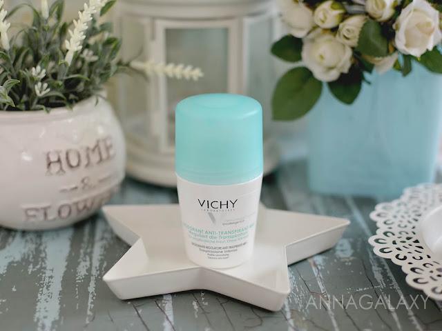 Шариковый антиперспирант против чрезмерного потоотделения Vichy Deodorant 48h anti-transpirant отзыв