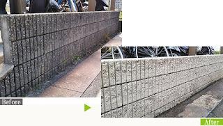 油汚れのアパート階段でG-Ecoシリーズ環境対応型洗浄剤油・マルチ使用