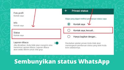 Cara Menyembunyikan Status WhatsApp Dari Seseorang