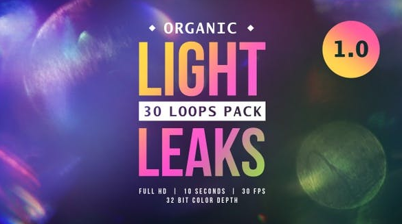 Footage – VideoHive – Organic Light Leaks 1.0 – 24079300 [MOV]