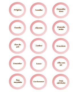 etiquetas especiarias