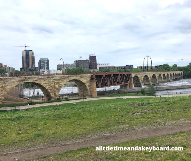 There are 23 arches to the Stone Arch Bridge in Minneapolis