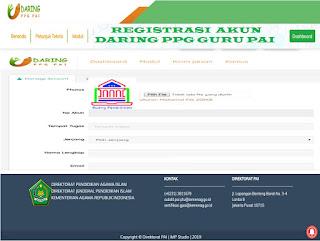registrasi akun daring ppg gpai