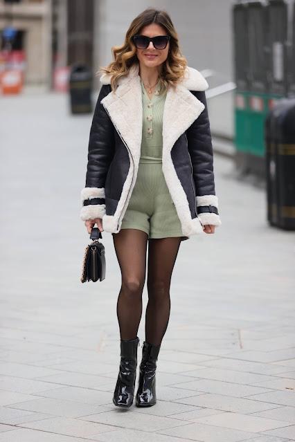 Zoe Hardman – Seen wearing olive green playsuit in London