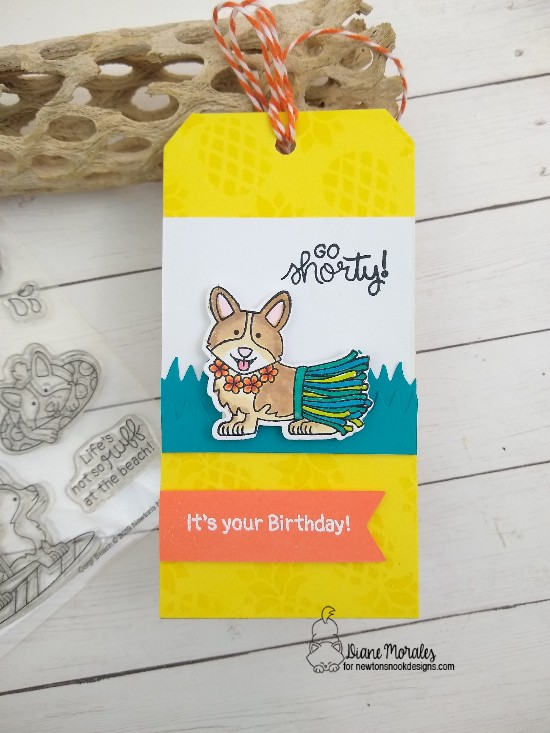 It's your birthday by Diane features Pineapple, Corgi Beach, Oink, Frames & Flags by Newton's Nook Designs; #newtonsnook