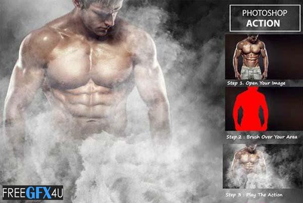 Smoke Effect Photo shop Action