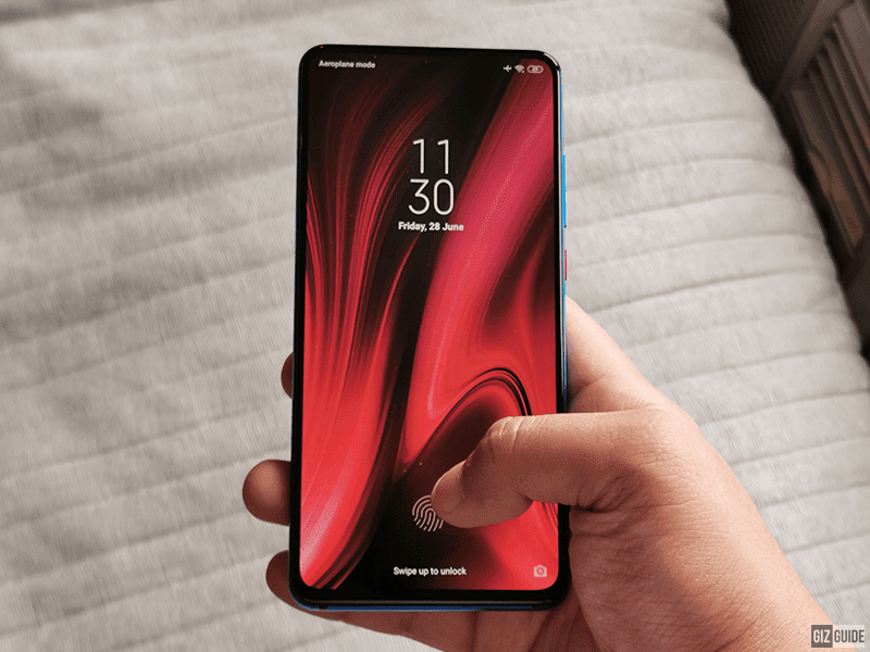 The all screen design with In-Display fingerprint scanner