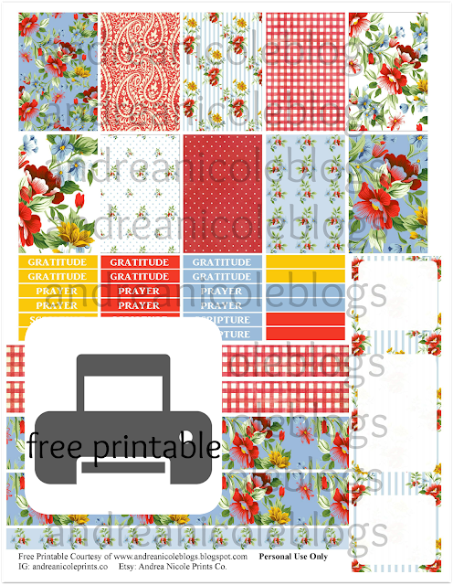 Free Happy Planner Bible Journal Printable Stickers
