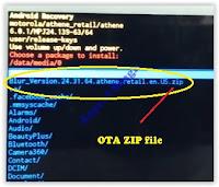 Ota ZIP file - moto G4 plus