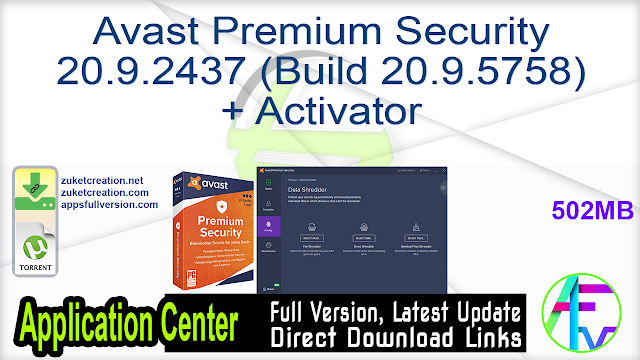 Avast Premium Security 20.9.2437 (Build 20.9.5758) + Activator