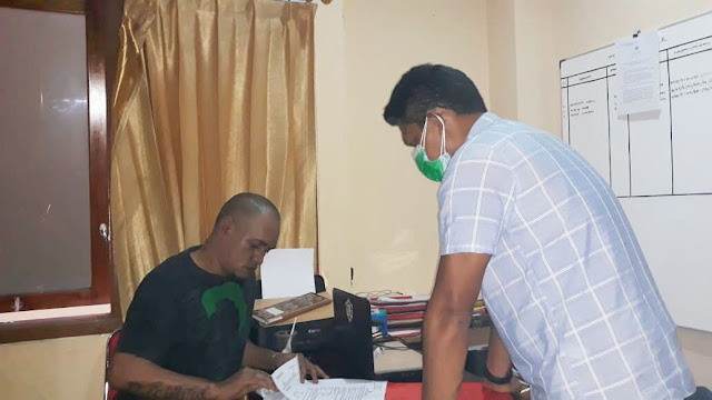 Secara Virtual, Polsek Abepura Serahkan Tiga Tersangka ke Jaksa